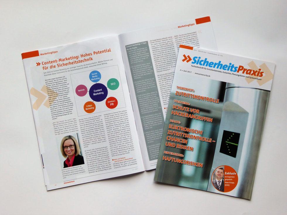 2017-06_Fachbeitrag-Content-Marketing-erschienen_Katharina-Zahner_Sicherheitspraxis-02-2017_web